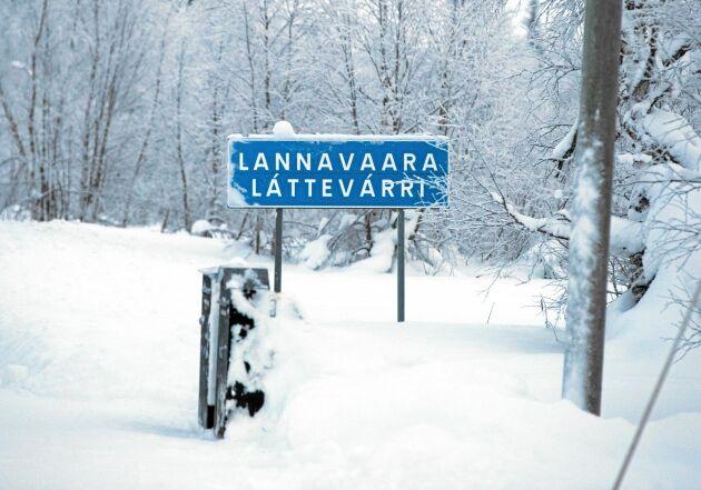 Här börjar Lannavaara, som i år fått ovanligt mycket snö.