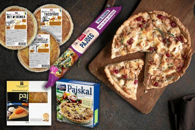 Palmolja återfinns i en rad produkter så som ICA:s färska portionspajer, Hattings pajskal, Quality meals Västerbottensostpaj och Pop! Bakery pajdeg.