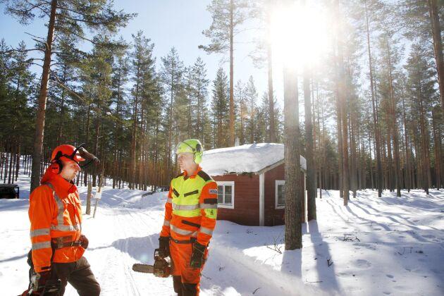 Anders Göransson till vänster och Lars-Göran Löfgren har nu fått definitivt förbud att avverka. Att förbudet var på gång berättade Land Skogsbruk om i mars i år.