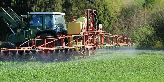 Stabila halter av växtskyddsmedel i EU-livsmedel