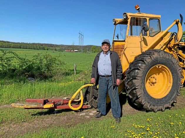 Erik Johansson har själv planerat och byggt buskryckaren.